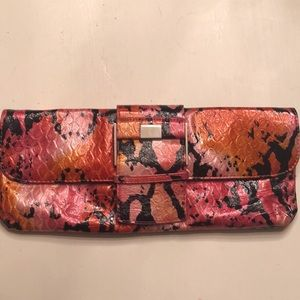 Express pink and orange snake skin print